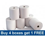 57 x 38mm FDMS Thermal Rolls Special Offer - buy 4 boxes get one free