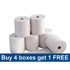 57 x 25mm Thermal Rolls Special Offer - buy 4 boxes get one free