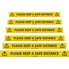 SAFETY TAPE - KEEP SAFE DISTANCE APART - 66 TAPE LENGTH
