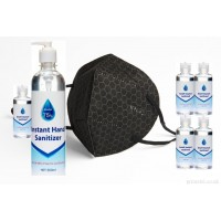 3 GRAPHENE FACE MASK (REUSABLE) 1 SPECIAL CLEANSER PLUS 500ml and 5 x 100ml Sanitisers