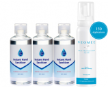 Hygiene Pack VEOMEE Foam and 3 x 100ml Alcohol based Sanitiser.
