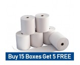 57 x 38mm Clover Flex Thermal Rolls Special Offer - buy 15 boxes get 5 free