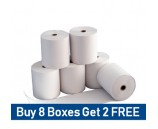 57 x 38mm Clover Flex Thermal Rolls Special Offer - buy 8 boxes get 2 free